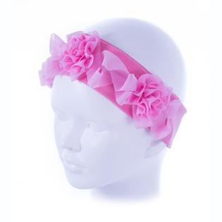 Купить Повязка детская ЧУДО-КРОХА «Роза» ЯВ119663. Цвет: розовый