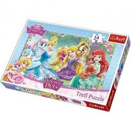Купить Пазл 24 элемента Trefl «Прекрасные принцессы»