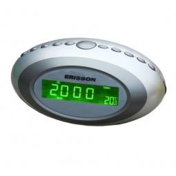 фото Радиочасы c термометром ERISSON RC-1202. Цвет: серебристый
