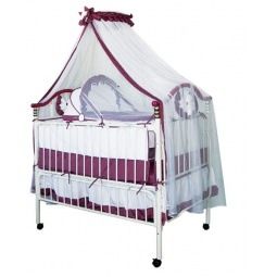 фото Кроватка-трансформер детская Geoby 05TLY632. Цвет: белый, бордовый