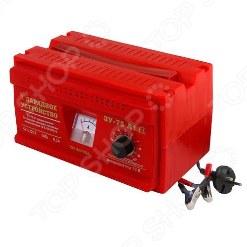 Устройство зарядное Тамбов ЗУ-75А1Прикуриватели. Пускозарядные устройства<br>Устройство зарядное Тамбов ЗУ-75А1 представляет собой удобный и функциональный прибор, при помощи которого вы в любое время сможете осуществить зарядку стартерных батарей, емкость которых составляет от 45 до 90 А.ч. на своем автомобиле, мотоцикле или другом агрегате. Так же его можно использовать в качестве источника питания, пригодного для разнообразных дополнительных приборов. Используя зарядное устройство Тамбов ЗУ-75А вы сможете за короткое время осуществить зарядку необходимой батареи и при этом, обеспечить абсолютную безопасность для себя и заряжающихся элементов питания. Оно полностью исключает опасное перенапряжение и следующее за ним выкипание электролита. Так же безопасность обеспечивается при помощи:  встроенных средств защиты от неправильного подключения;  защиты от коротких замыканий;  защиты от перегрузок и перегрева. Простоты в использование зарядного устройства добавляет и наглядное отображение всех происходящих процессов, при помощи имеющиеся индикаторы, которые легко читаются и полностью понятны. Температурный диапазон, при котором работа будет осуществятся корректно составляет от -25, до 35 градусов по Цельсию, а так же при относительной влажности воздуха, составляющей не более 85 .<br>