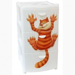 Купить Комод 3-х секционный IDEA «Альт Деко. Кот»