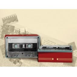 фото Набор подарочный: фляга и стопки Феникс-Презент «Аудиокассета»