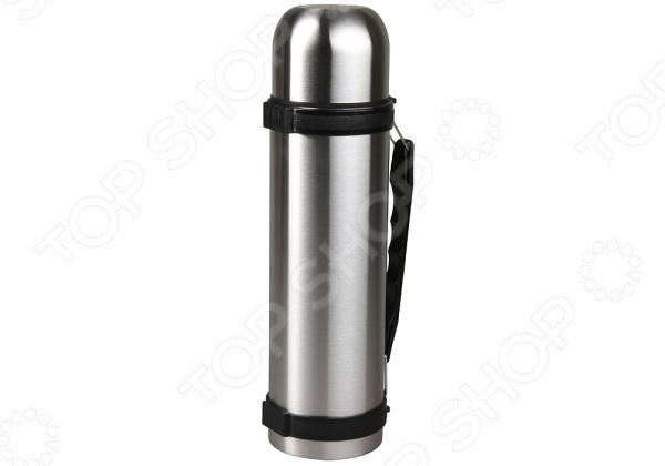Термос Rosenberg 99154Термосы и термокружки<br>Термос Rosenberg практичный и вместительный термос с узкой горловиной. Применение термоса универсально и позволяет сохранить тепло содержимого в течение дня. Выполнен из качественной нержавеющей стали. Верхняя крышка закручивается герметично и имеет дополнительную функцию чашки для напитков. Имеет простое оформление с выступами, и удобной ручкой для обхвата и переноски. Такая модель термоса позволит брать с собой напитки на работу или в дорогу. Легко очищается под проточной водой и не сохраняет посторонних запахов.<br>