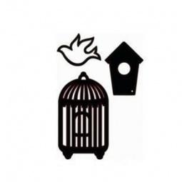 фото Форма для вырубки ScrapBerry's Набор Птичка 22827