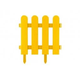 фото Забор декоративный Grinda «Штакетник» 422209. Цвет: желтый