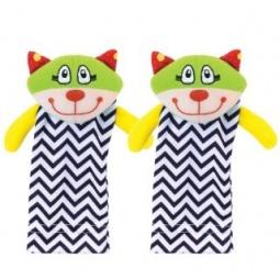 фото Игрушка-носочки для малыша Жирафики «Котята»