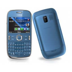 фото Мобильный телефон Nokia 302 Asha. Цвет: голубой