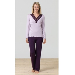 фото Комплект домашний BlackSpade 5680. Цвет: лиловый. Размер одежды: XL