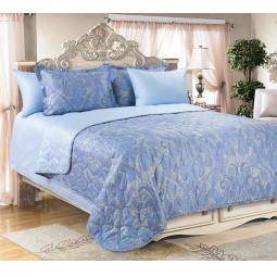 фото Покрывало ТексДизайн «Кашмир». Цвет: голубой. Размер: 180х210 см
