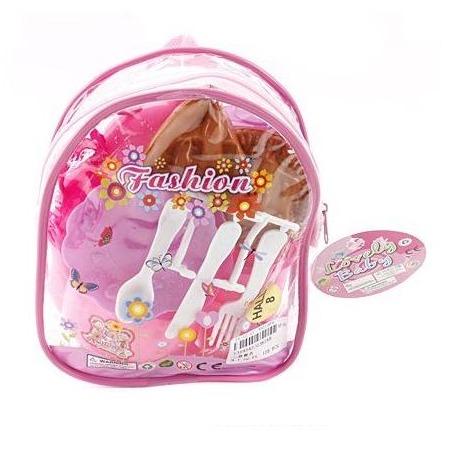 Купить Набор посуды игрушечный Shantou Gepai в рюкзаке 629152