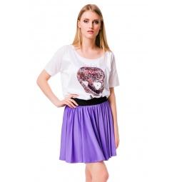 фото Юбка Mondigo 5341. Цвет: ярко-сиреневый. Размер одежды: 48