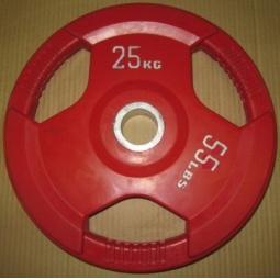 фото Диск обрезиненный Alex RCP D 51. Вес в кг: 25 кг. Цвет: красный