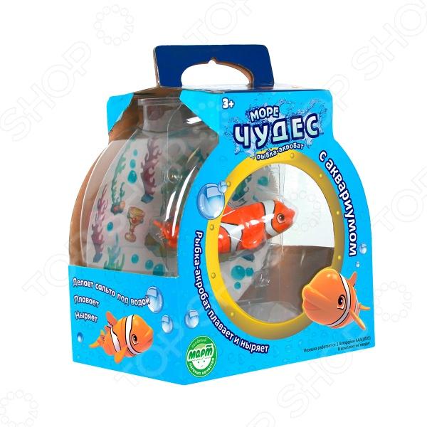 Игрушка интерактивная Redwood «Рыбка-акробат Лаки» с аквариумом