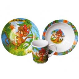 Купить Набор детской посуды Viconte VC-1202 «Обезьянка»