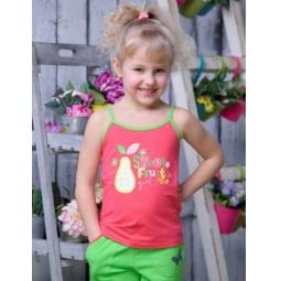 фото Майка для девочек Detiland SS15-UBL-GTP-964. Цвет: коралловый. Рост: 122 см