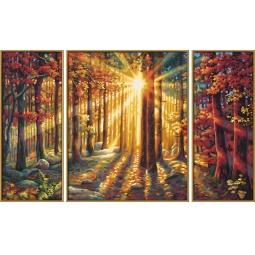 Купить Набор для рисования по номерам Schipper «Триптих. Осенний лес»