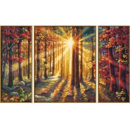 фото Набор для рисования по номерам Schipper «Триптих. Осенний лес»