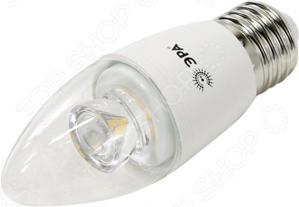 Лампа светодиодная Эра B35 Clear - прекрасный альтернативный источник освещения, который способен эффективно заменить всем привычные лампы накаливания. Она представляет собой осветительный элемент с рефлекторной колбой с цоколем Е27 или Е14. Лампа излучает мягкий теплый свет, который не режет глаза, поэтому она прекрасно походит для использования в светильниках, люстрах, торшерах. За счет использования светодиодов срок службы увеличен почти в 30 раз - до 30000 часов. Лампа безопасная, не токсична и отличается низким уровнем энергопотребления.