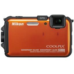 фото Фотокамера цифровая Nikon CoolPix AW100. Цвет: оранжевый