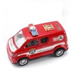 фото Машинка инерционная Shantou Gepai «Микроавтобус. Пожарная охрана»