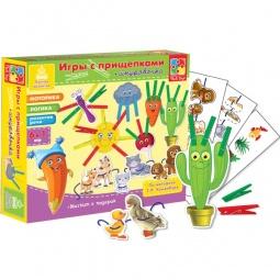 Купить Игра развивающая для малыша Vladi Toys «Прищепочки. Солнышко»
