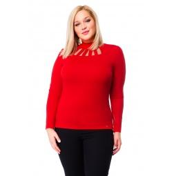 фото Водолазка Mondigo XL 417. Цвет: красный. Размер одежды: 50