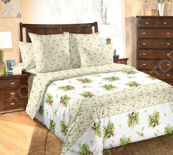 цена Комплект постельного белья Белиссимо «Ландыши» онлайн в 2017 году