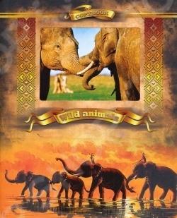 Тетрадь в клетку с вырубкой Ульяновский Дом печати «Дикие животные: Слоны»