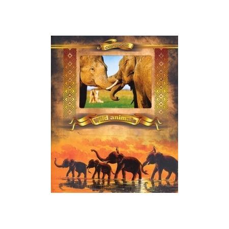 Купить Тетрадь в клетку с вырубкой Ульяновский Дом печати «Дикие животные: Слоны»