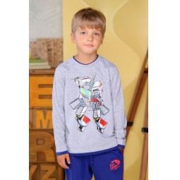 фото Футболка для мальчиков Detiland AW15-UKN-BTL-023. Цвет: серый меланж