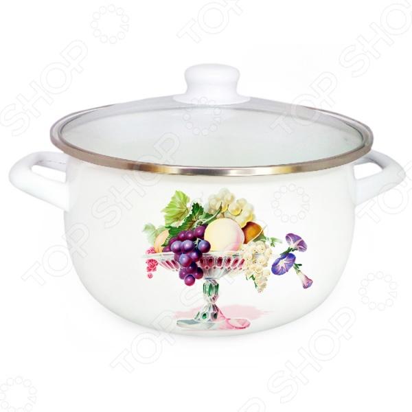 Кастрюля с крышкой Mayer&amp;amp;Boch «Фрукты» 25025Кастрюли<br>Кастрюля с крышкой Mayer Boch Фрукты 25025 станет отличным дополнением к набору вашей кухонной утвари. Модель удобна и функциональна в использовании, подходит для варки супов, гарниров, макарон, овощей, компотов и т.д. Кастрюля выполнена из углеродистой стали и снабжена, устойчивым к перепадам температур и к воздействию пищевых кислот, эмалевым покрытием. В комплект поставки входит стеклянная крышка с пароотводом и металлическим ободком для защиты от сколов и трещин. Кастрюля подходит для всех типов плит, включая индукционные.<br>