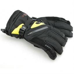 Купить Перчатки горнолыжные GLANCE Fighter (2012-13). Цвет: черный, желтый