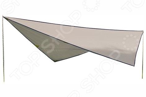 Тент со стойками High Peak Tarp 1Тенты<br>Тент со стойками High Peak Tarp 1 важное дополнение туристического инвентаря на длительные путешествия. Тент абсолютно незаменим в походе любой сложности. Его используют как укрытие от дождя или солнца, или, как покрывало на дно палатки. Этот гаджет часто используется профессионалами и любителями, для защиты палатки в сезон дождей. В комплект входят две стальные стойки, которые поддерживают тент в необходимом положении. Это приобретение отлично подойдет для пикников в больших компаниях.<br>