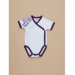 фото Боди для новорожденных с запахом короткий рукав Ёмаё