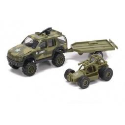 фото Машинка игрушечная Soma «Военный внедорожник с багги» 78368A