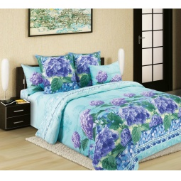 фото Комплект постельного белья Белиссимо «Гортензия-4». 2-спальный. Размер простыни: 220х195 см