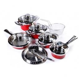 фото Набор кухонной посуды Universal 1019. Цвет: красный