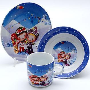 Купить Набор посуды для детей Mayer&Boch «Лыжники» MB-23388