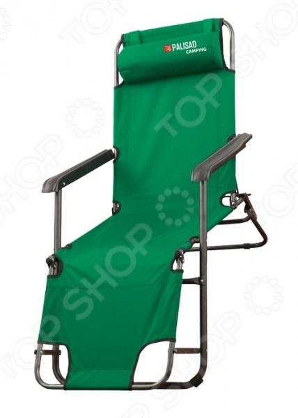 Кресло-шезлонг PALISAD Camping 69587Шезлонги<br>Кресло-шезлонг PALISAD Camping 69587 создано специально для тех, кто любит отдыхать на природе. Имеет два положения, его можно использовать как кресло так и шезлонг полулежа и лежа . Имеет съемный подголовник. Рассчитано на максимальную нагрузку в 100 кг модель, сделает ваш отдых максимально комфортным и приятным. Спинка и подставка для ног регулируются по углу наклона в 6 положениях. Кресло-шезлонг легко складывается, поэтому хранение и транспортировка не доставят проблем.<br>
