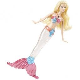 фото Кукла-русалка для купания Mattel V7047 «Сверкающие огоньки. Блондинка»