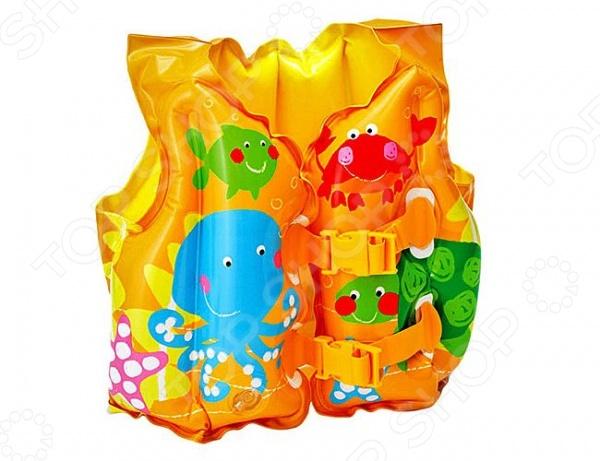 Жилет надувной Intex 59661 «Веселые рыбки» кольца подводные для игры intex рыбки