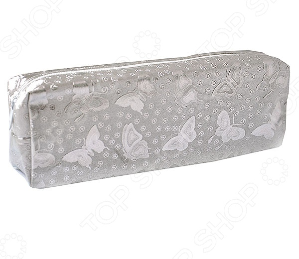 Пенал Beifa «Бабочки металлик». В ассортименте