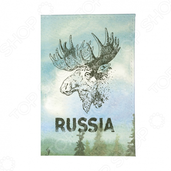 Обложка для паспорта Mitya Veselkov «Лось» лазарева и лось в облаке