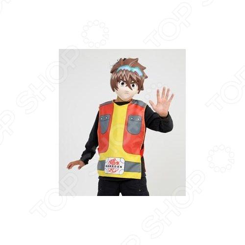 Костюм карнавальный для мальчика Cesar Бакуган - обязательно понравится каждому мальчику, ведь, бакуганы - популярные японские аниме, которые завоевали сердца мальчишек со всего мира. Карнавальный костюм подарит ребенку ощущение настоящего перевоплощения. Примеряя на себя различные роли, дети словно переносятся в совершенно другой сказочный мир. Облачившись в любимого сказочного героя, ребенок так же примеряет на себя черты его характера, что дает ему возможность почувствовать себя в совершенно другой роли. Подобные перевоплощения очень полезны для детского развития, они помогают ребенку освоить коммуникативные навыки, стать более общительным и уверенным в себе, почувствовать себя увереннее и свободнее. В комплекте табард и маска.