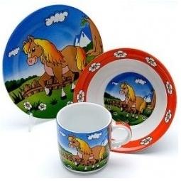 фото Набор посуды детский Mayer&Boch «Лошадка»