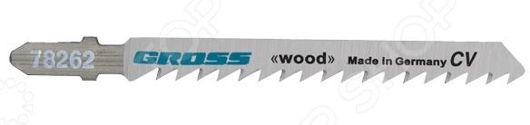 Пилки для электролобзика GROSS 78262Пилки для лобзиков<br>Пилки GROSS 78262 предназначены для распиловочных работ по твердой и мягкой древесине, фанере, ДСП и ДВП при помощи электрического лобзика. В набор входят 2 полотна, которые изготовлены из высококачественной стали. Длина каждой пилки 100 мм, а шаг зуба составляет 6 TPI, что позволяет пилить материал толщиной от 10 до 45 мм. Боковая поверхность отшлифована под конус, поэтому место распила имеет аккуратную и ровную кромку.<br>