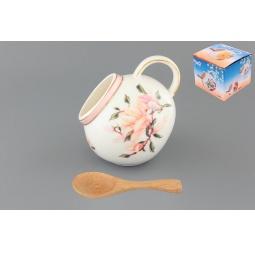 Купить Банка для соли Elan Gallery «Орхидея на розовом»