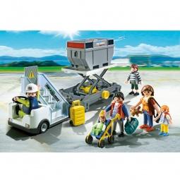 фото Набор игровой для мальчика Playmobil «Самолет: Авиапогрузчик с грузом и пассажиры»