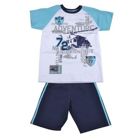 Купить Комплект: футболка и шорты Zeyland Forest Zeyland. Цвет: синий